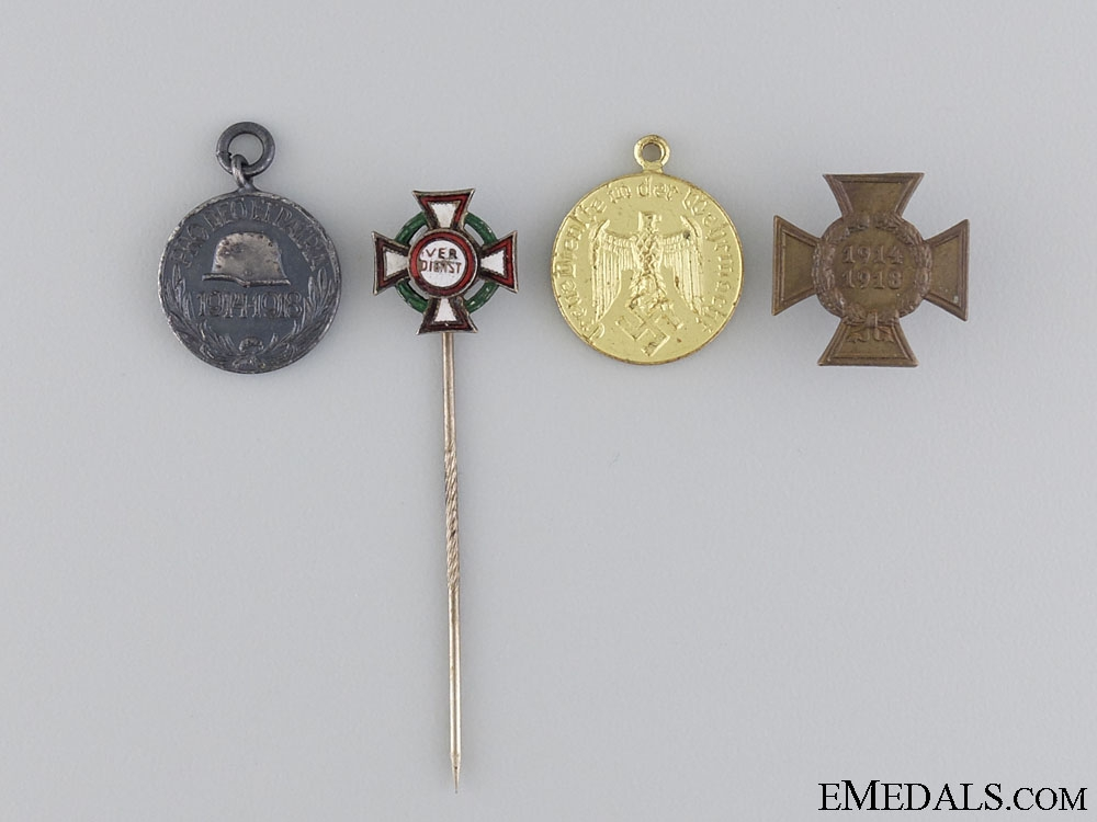 A Lot of Four European Miniature Awards