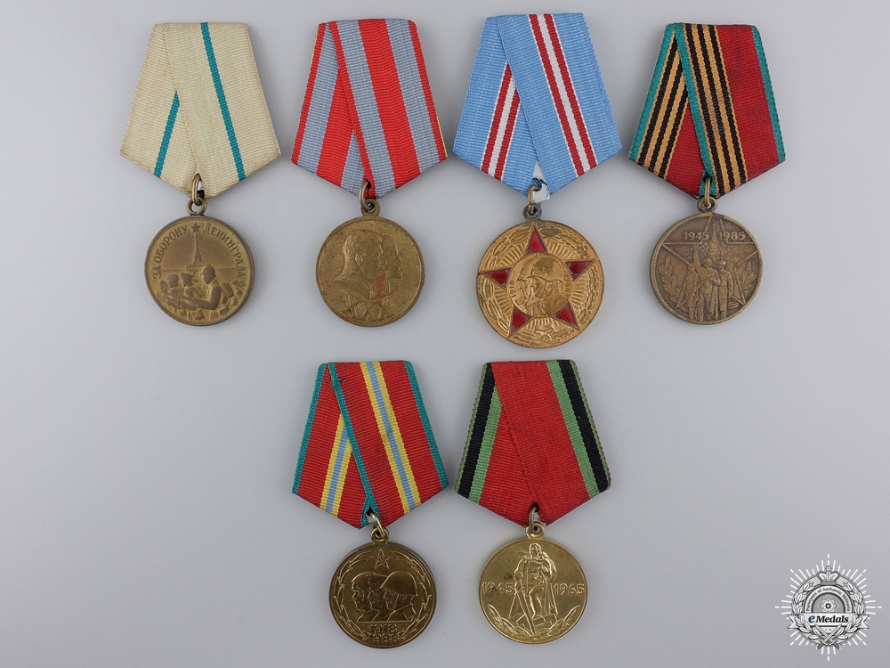 A Lot of Six Soviet Medals