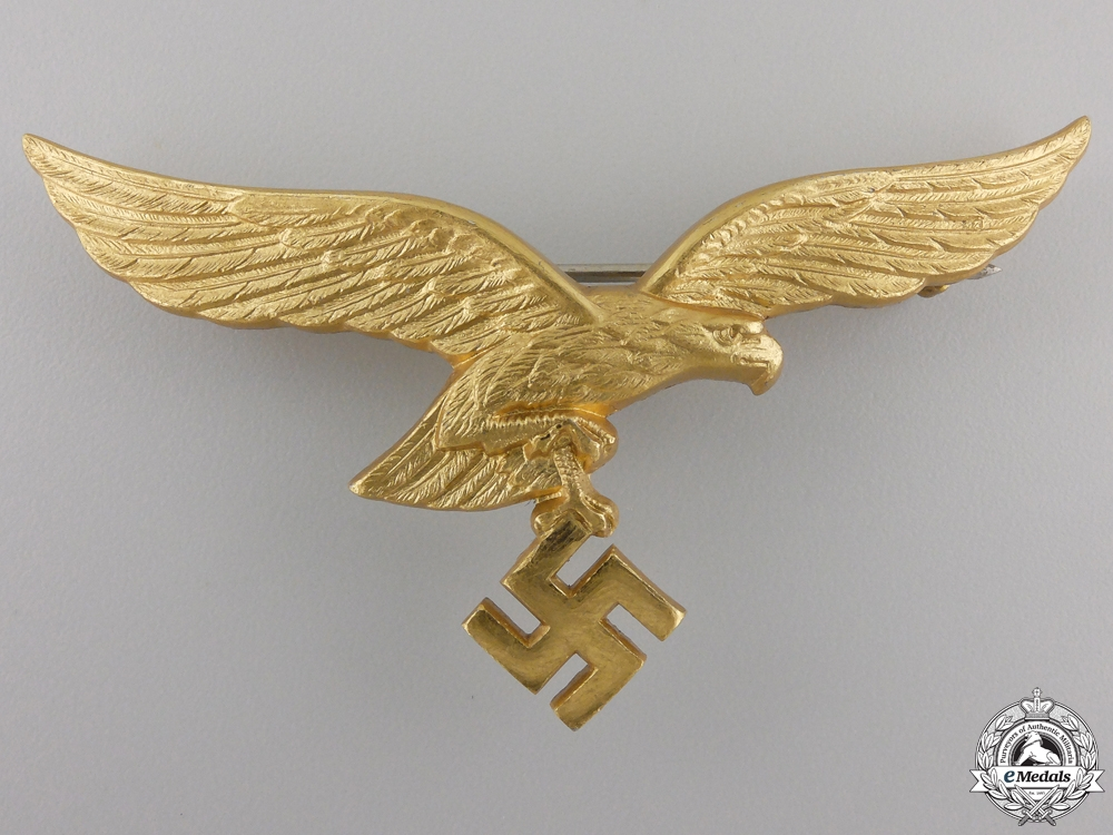 A Luftwaffe Breast Eagle for Summer Tunic for Generals; 2nd Type