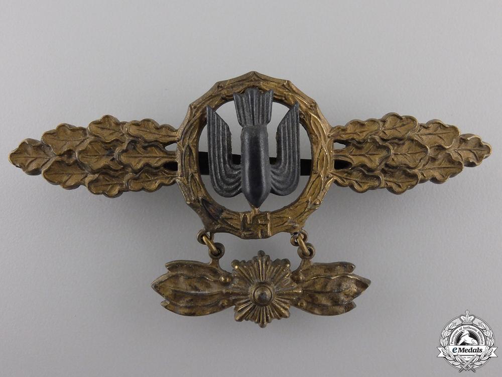 A Luftwaffe Gold Bomber Flight Clasp by Richard Simm & Söhne