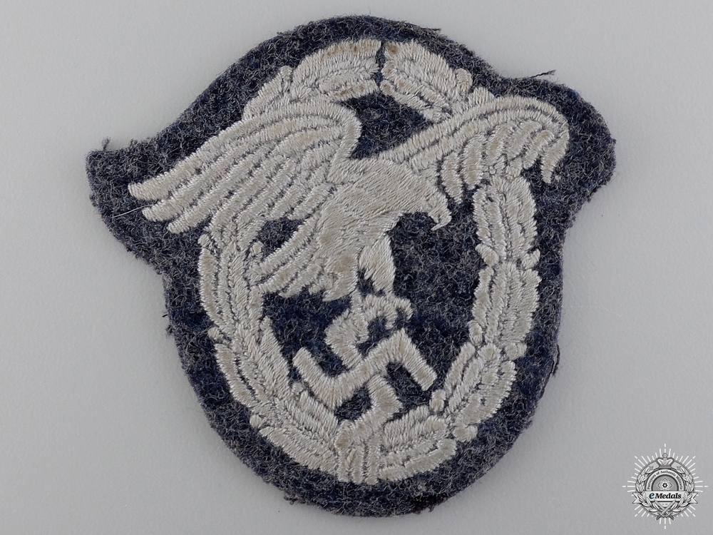 A Luftwaffe Observer's Badge; Cloth Version