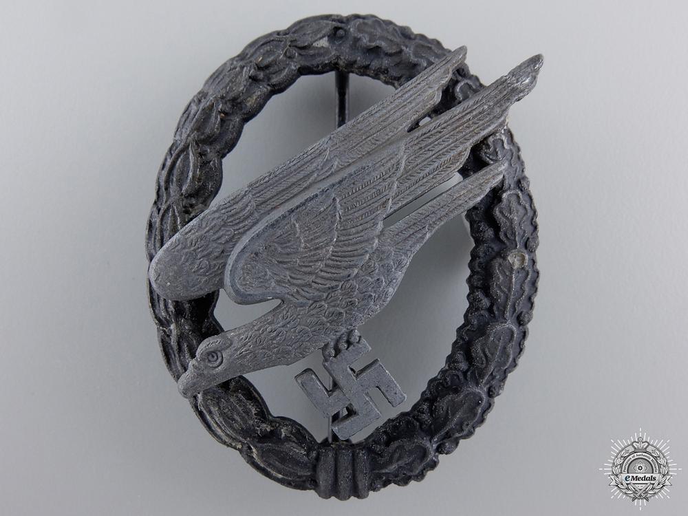 A Luftwaffe Paratrooper Badge by Assmann