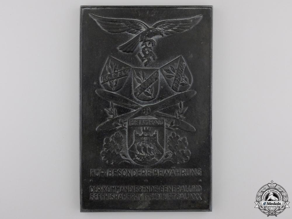 A Luftwaffe South Eastern Europe Air District Achievement Award
