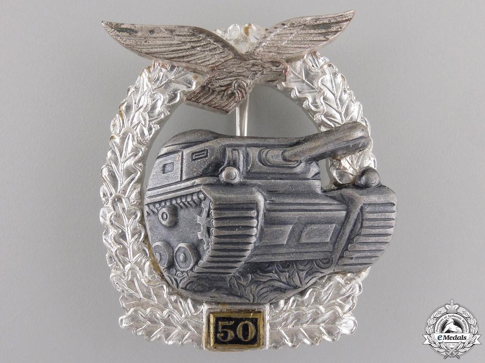 A Luftwaffe Tank Assault Badge 50; 1957 Version
