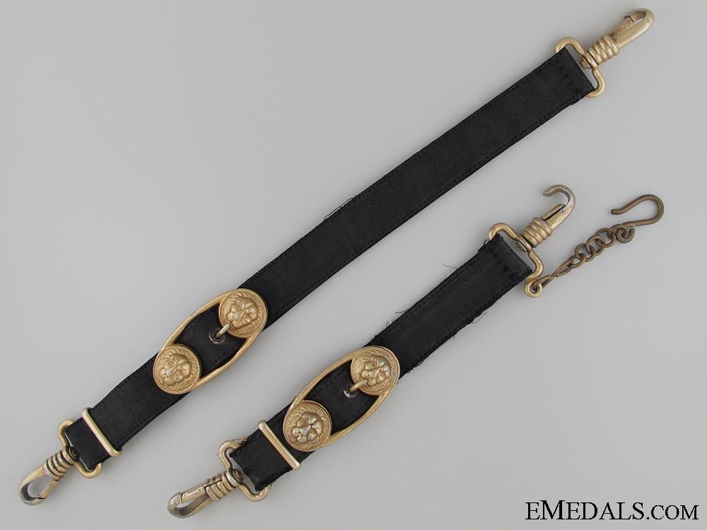 A Matching Set of Naval Dagger Hangers