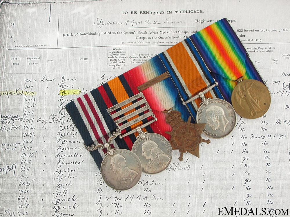 A Military Medal Group to Private Keane