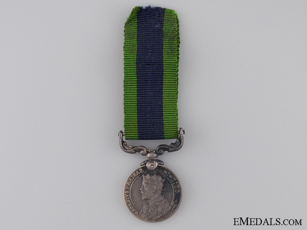 A Miniature 1909 India Service Medal