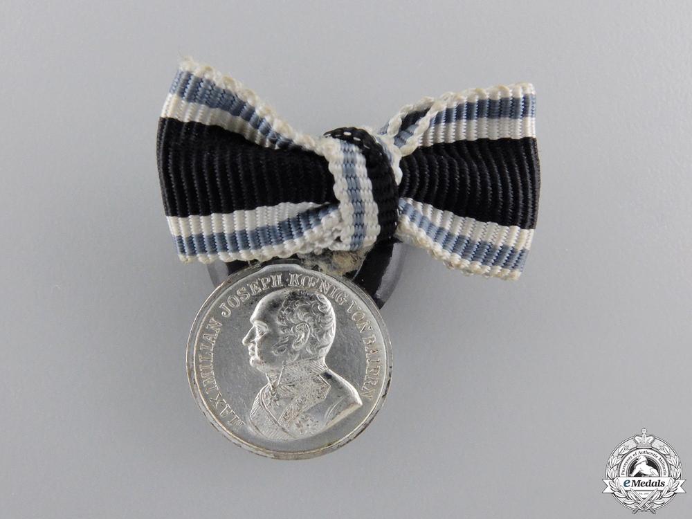A Miniature Bavarian Silver Military Merit Medal