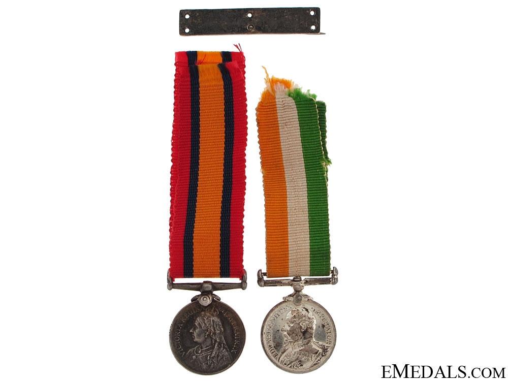 A Miniature Boer War Pair