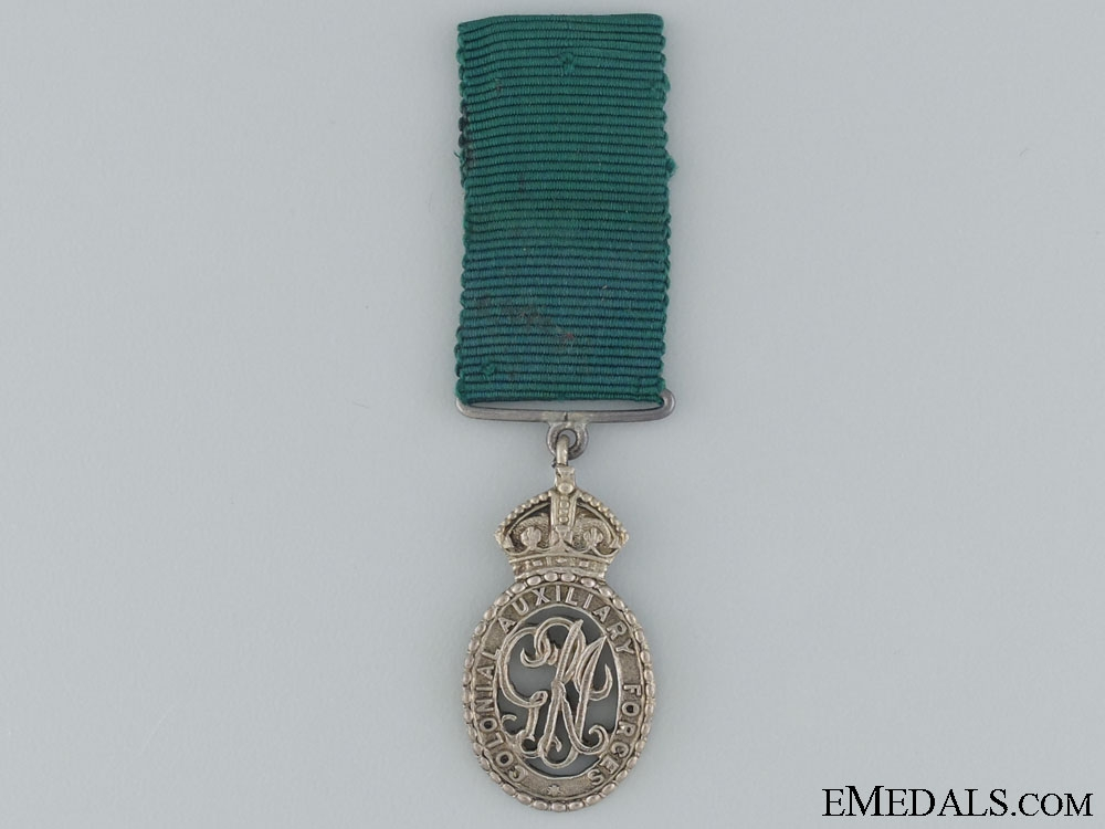 A Miniature Colonial Auxiliary Forces Decoration