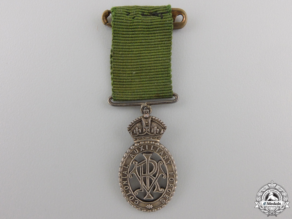 A Miniature Colonial Auxiliary Forces Officers Decoration