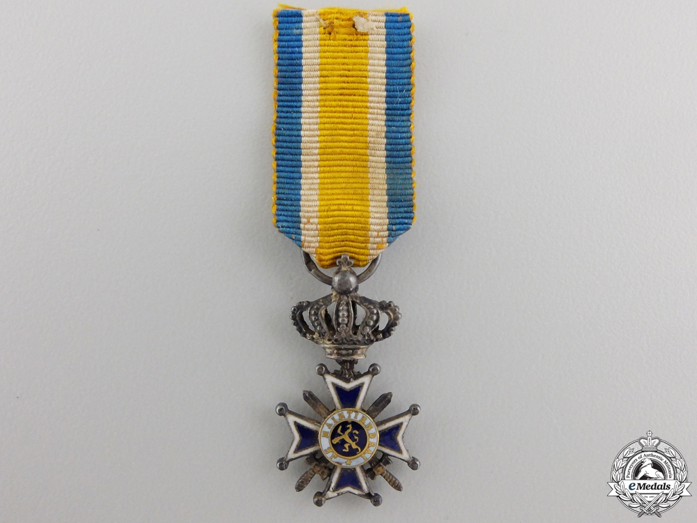 A Miniature Dutch Order of Orange-Nassau with Swords