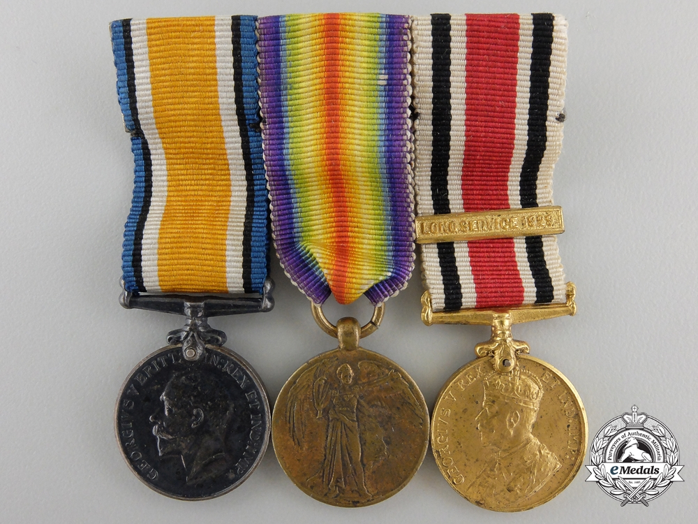 A Miniature First War & Police Long Service Group