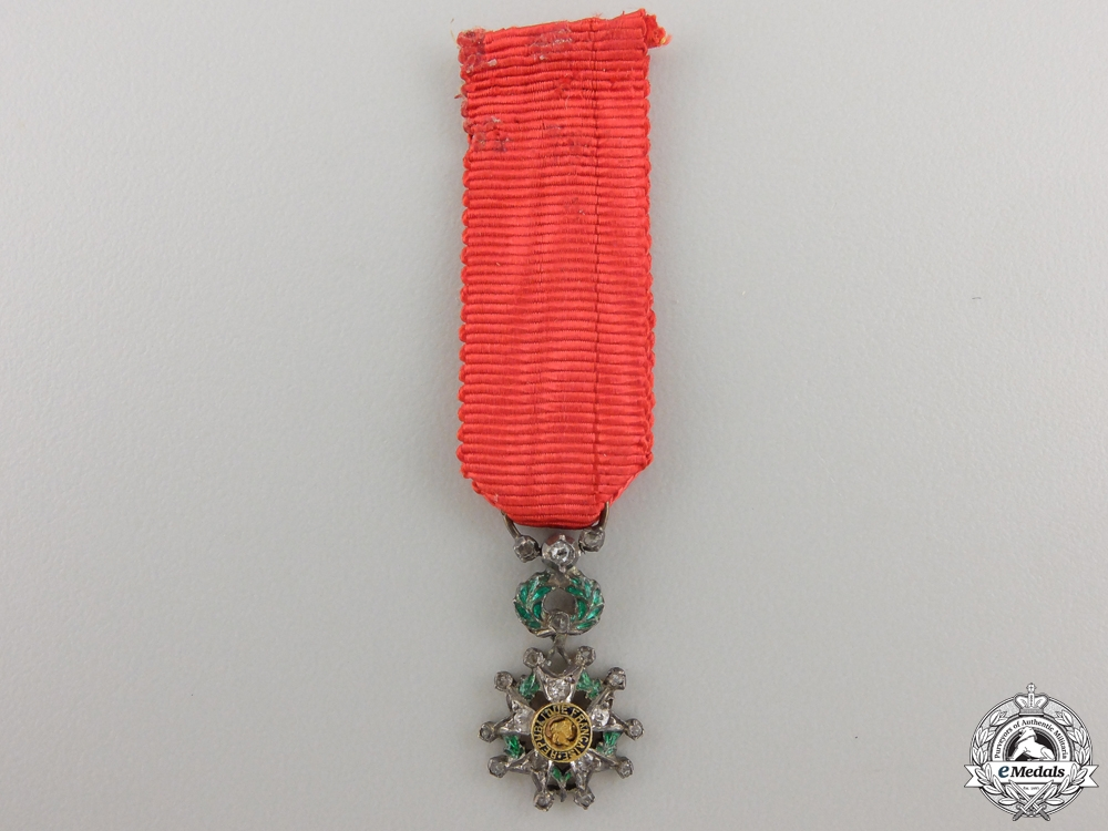 France, Third Republic. A Legion D'Honneur, Miniature, in Gold & Diamonds, c.1960