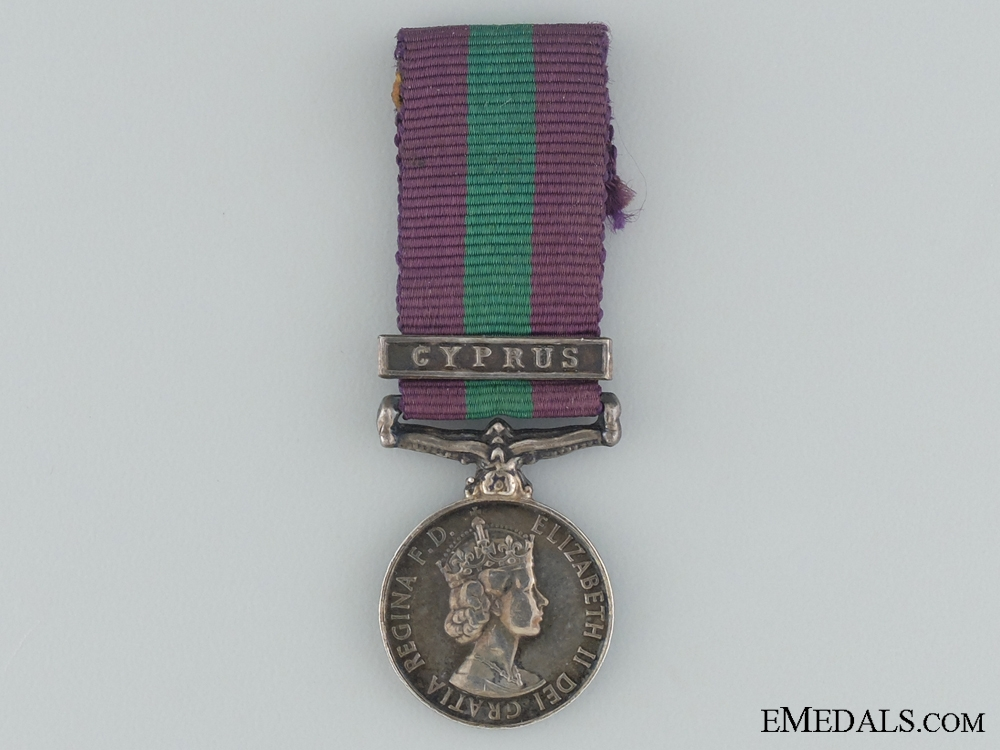 A Miniature General Service Medal 1962-2007 for Cyprus