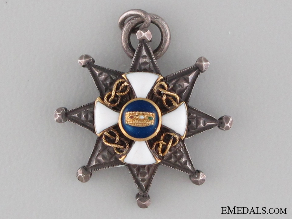 A Miniature Italian Order of the Crown Breast Star