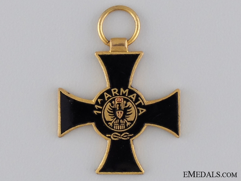 A Miniature Italian 11th Army Cross