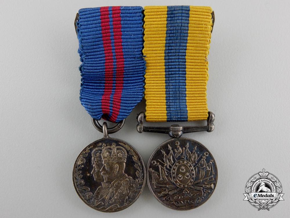 A Miniature Khedive's Sudan Medal Pairing