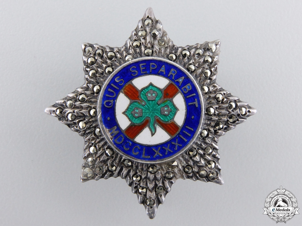 A Miniature Most Illustrious Order of Saint Patrick