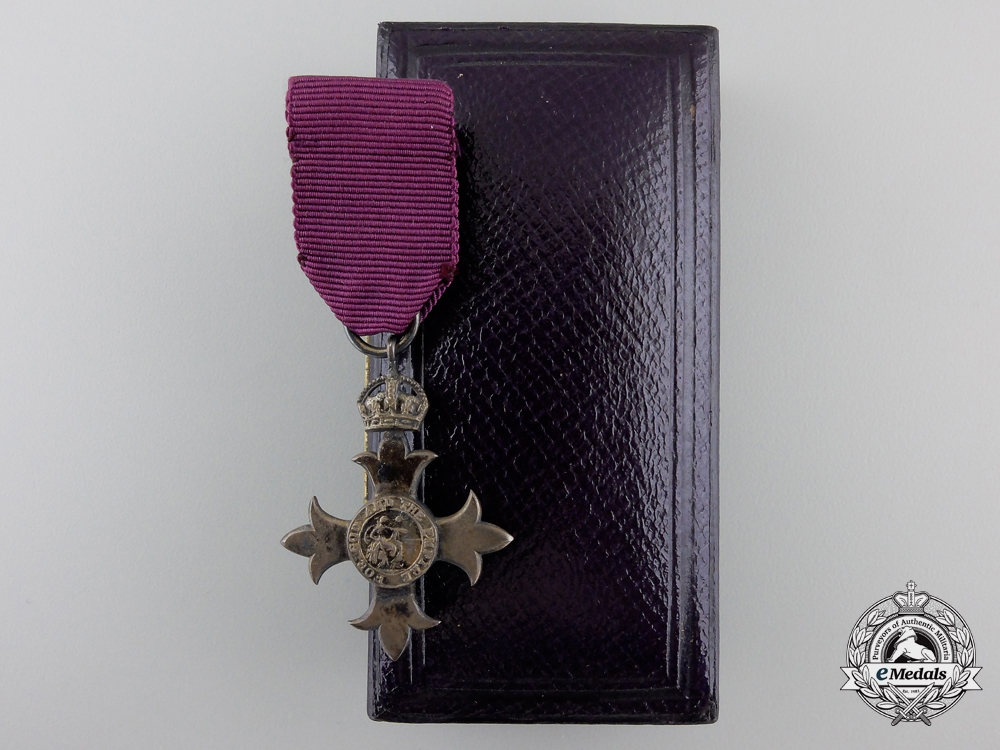 A Miniature Most Excellent Order of the British Empire; (MBE) with Case