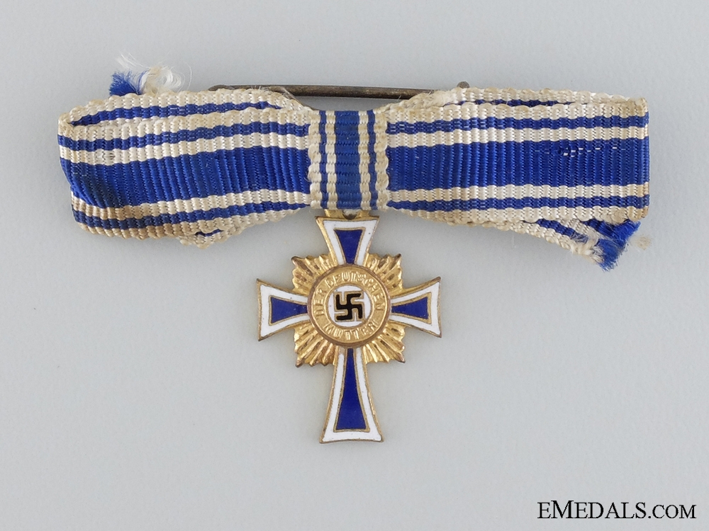 A Miniature Mother's Cross; Gold Grade by Boerger & Co.