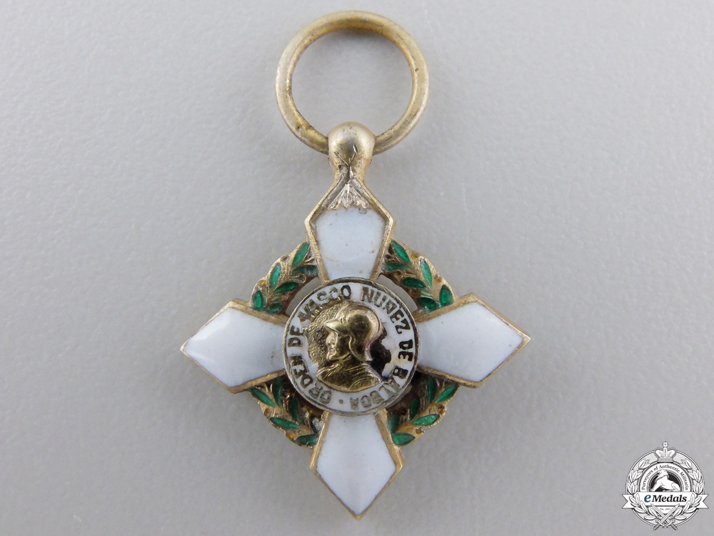 A Miniature Order of Vasco Nunez de Balboa of Panama