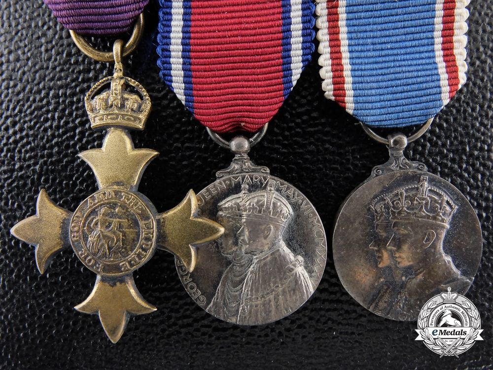 A Miniature Order of the British Empire Group with Garrard & Co. Case