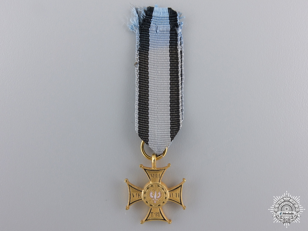 A Miniature Polish Order of the Virtuti Miltari; 4th Class