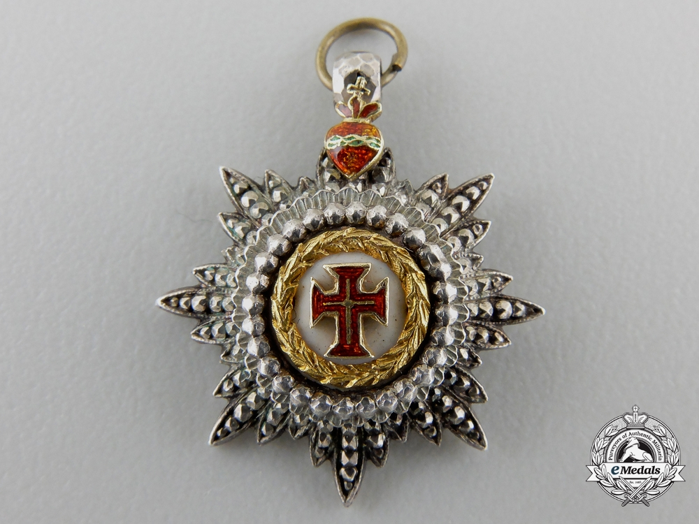 A Miniature Portuguese Military Order of Christ; Grand Cross in Gold