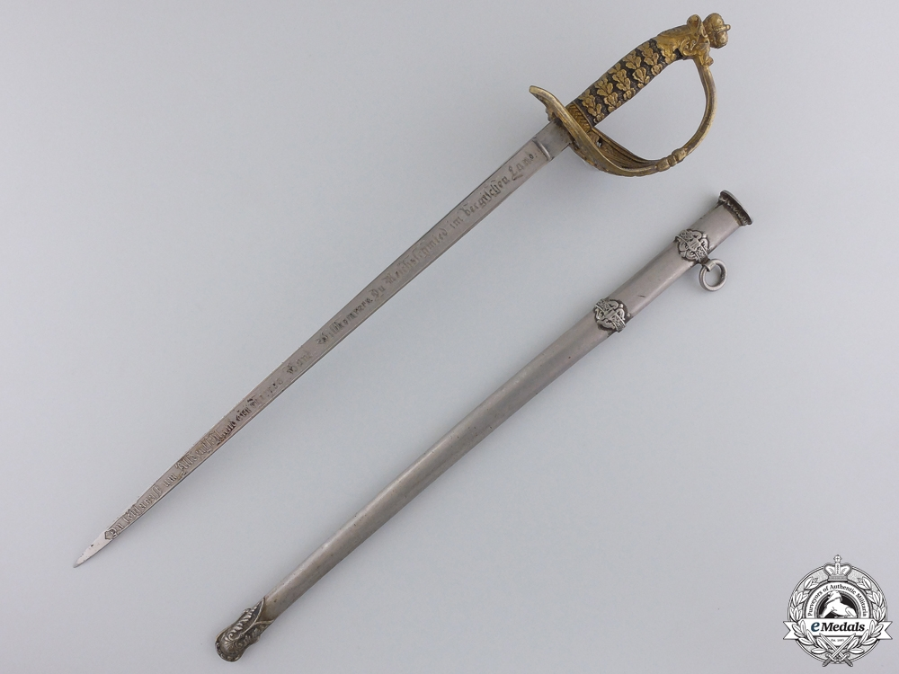 A Miniature of Presentation Sabre to  Otto von Bismarck