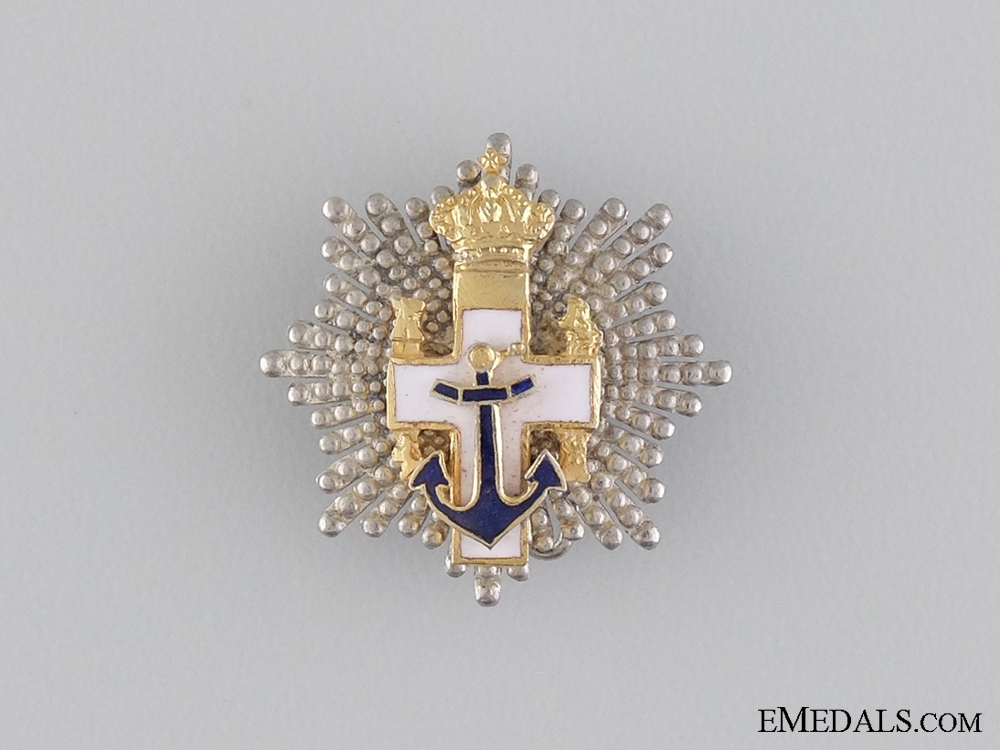 A Miniature Spanish Order of Naval Merit; Grand Cross Star