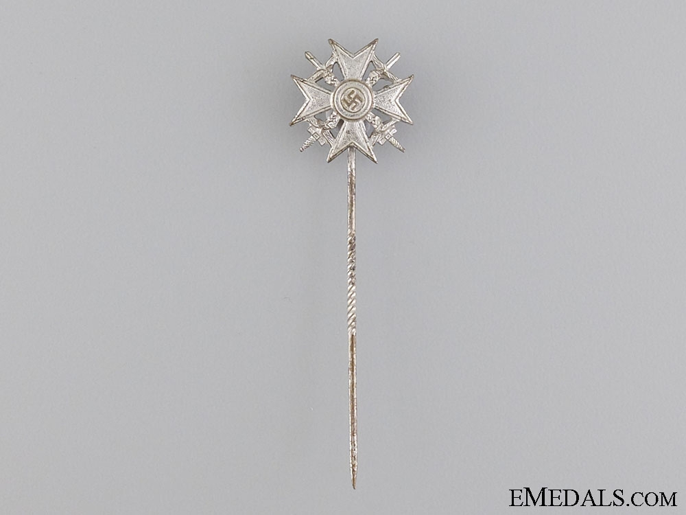 A Miniature Spanish Cross; Silver Grade by Wilhelm Deumer