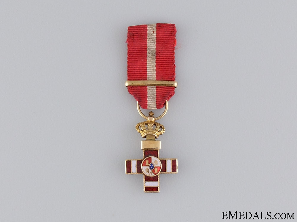 A Miniature Spanish Order of Military Merit in Gold