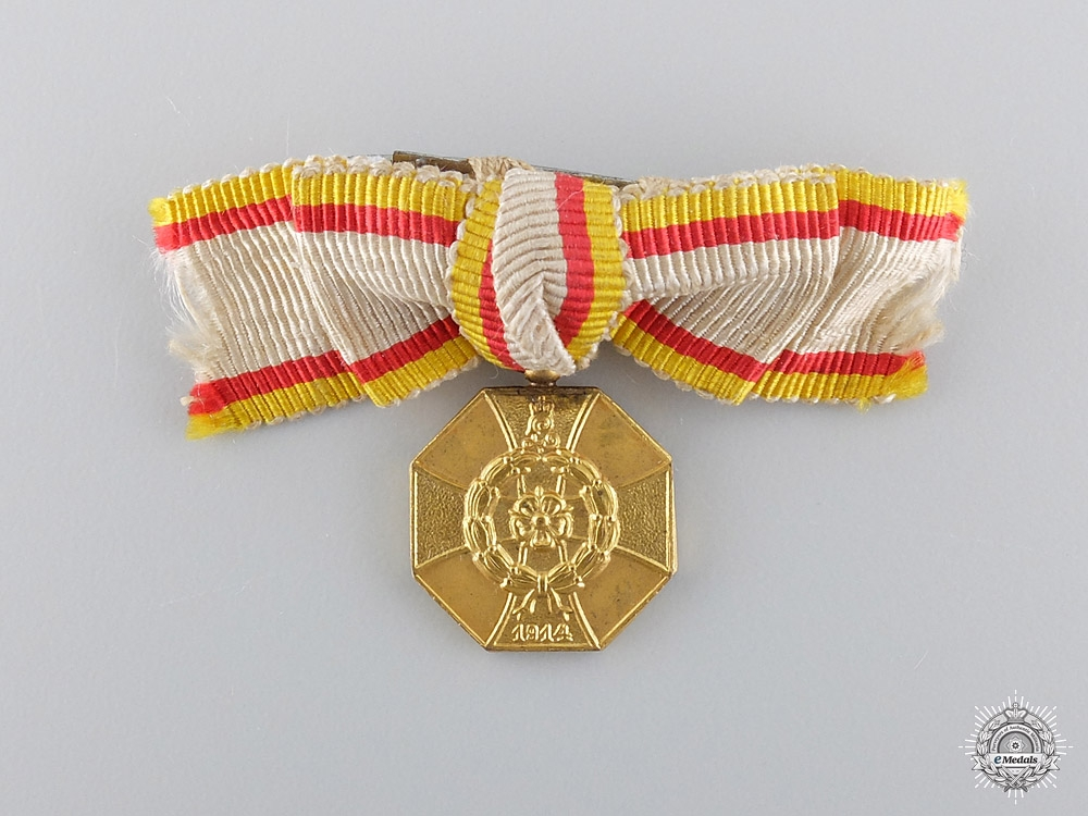 A Miniature WWI Lippe-Detmold War Honour Medal