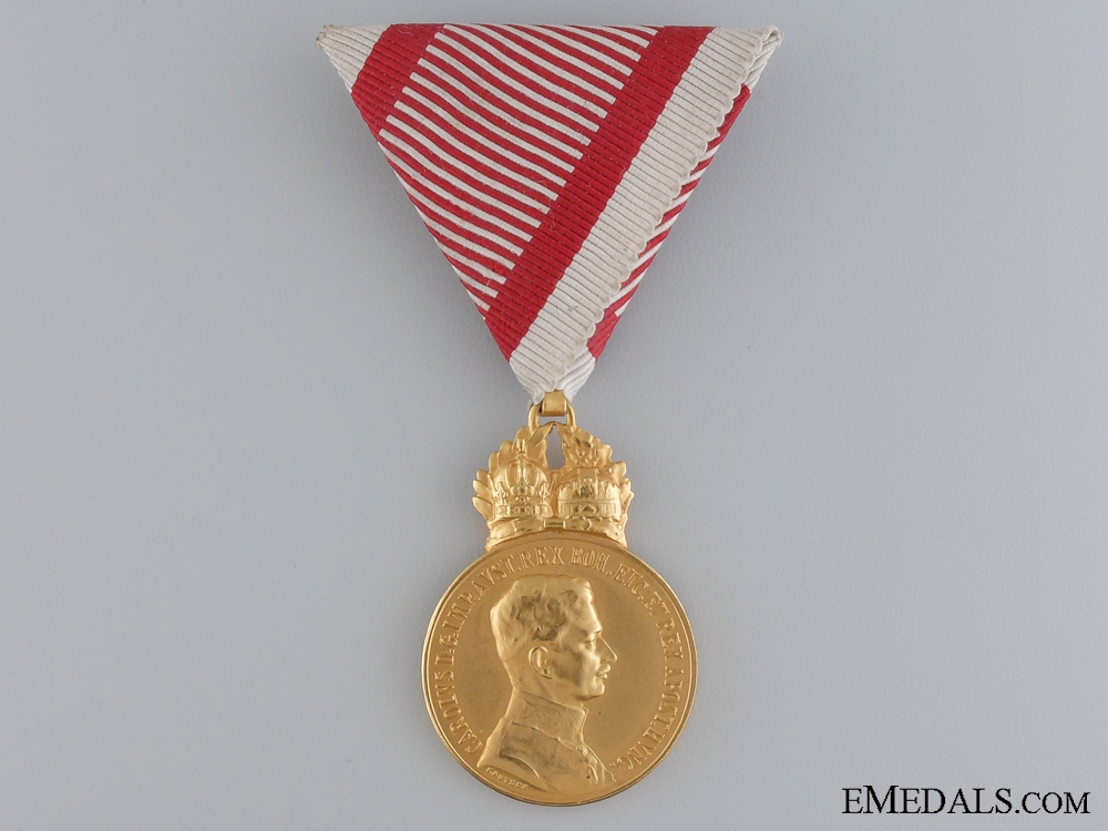 "A Mint Austrian Military Merit Medal ""Signum Laudis""; Bronze Grade"