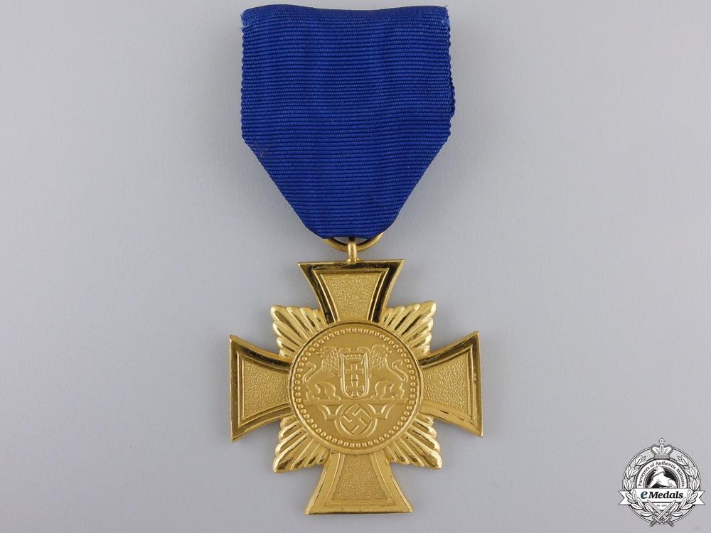 A Mint Danzig Police Long Service Decoration; 1st Class