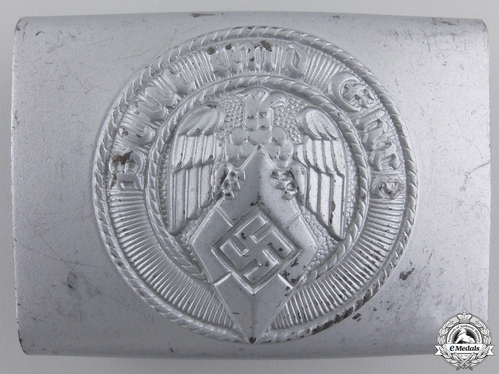 A Mint HJ Members Belt Buckle by Klein & Quenzer