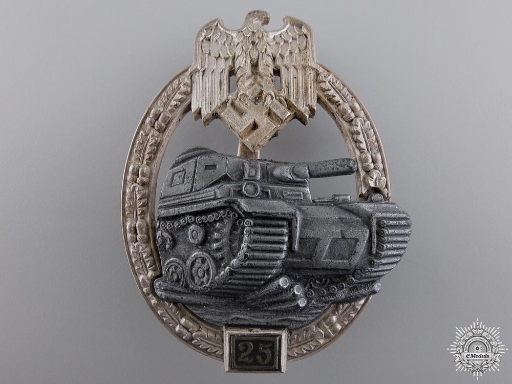 A Mint Tank Assault Badge; Special Grade 25