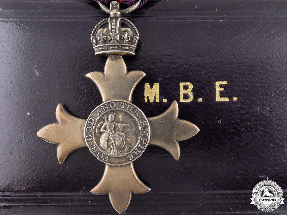 A Most Excellent Order of the British Empire with Case; MBE