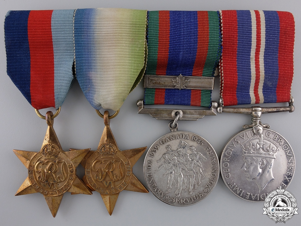 A Named Second War Canadian Medal Bar