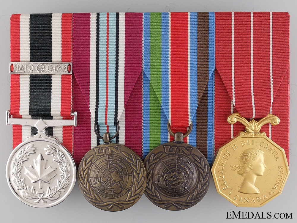 A NATO & UN Medal Bar to Master Corporal J.A.D. Gaudet