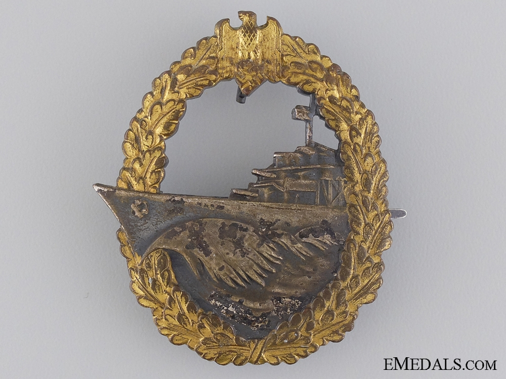 A Naval Destroyer War Badge by Schwerin of Berlin
