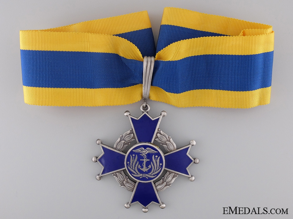 A Navy Merit Medal of Ecuador; Commander's Cross