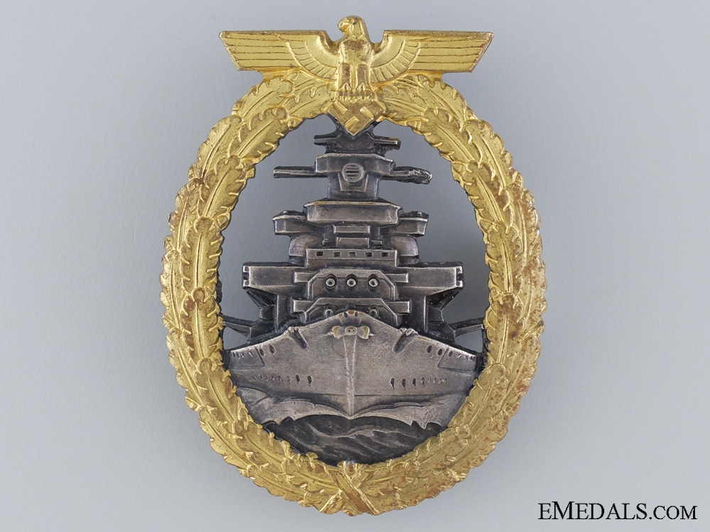 A Near Mint High Seas Fleet Badge by Schwerin