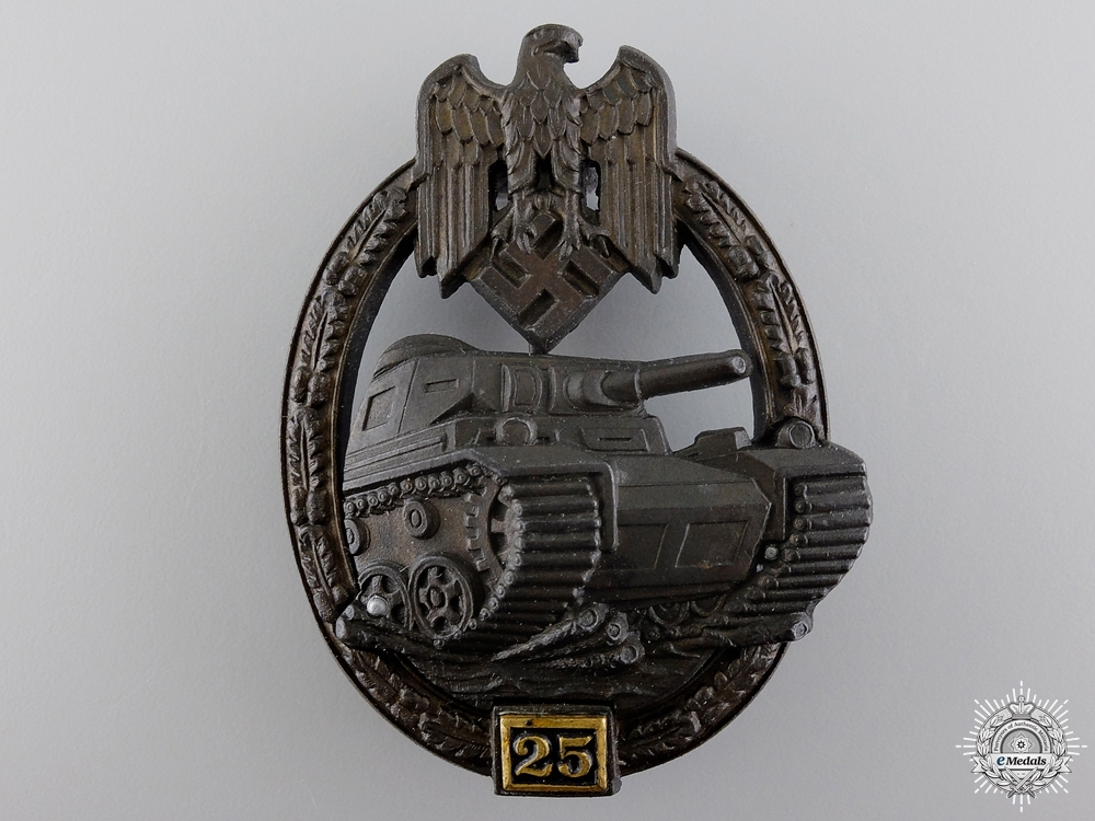 A Near Mint Tank Assault Badge; Special Grade 25