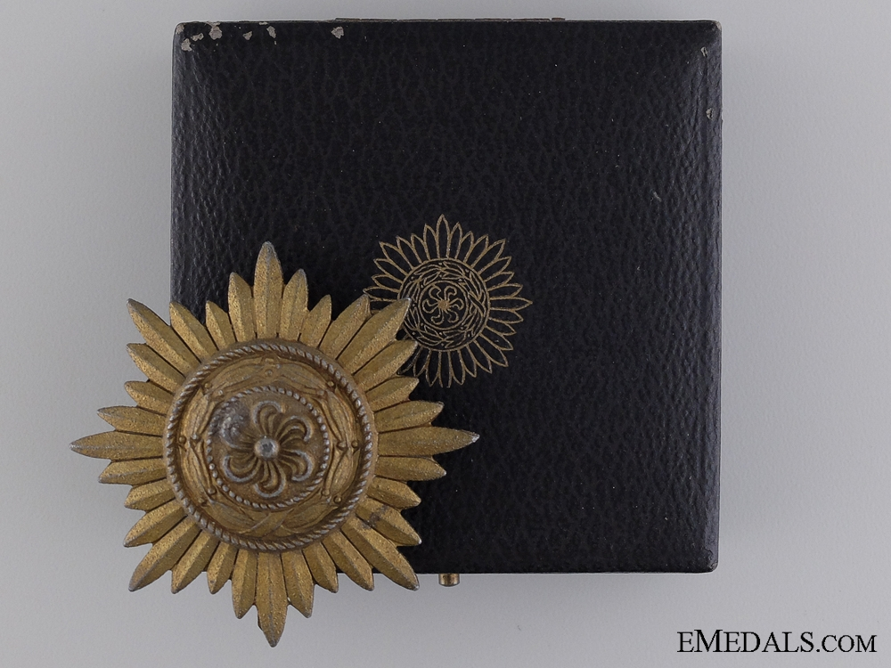 A Ostvolk Decoration For Service; Gold Grade with Case