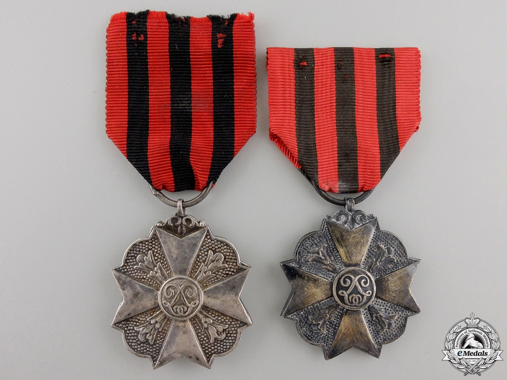 A Pair of Belgian Civil Decorations