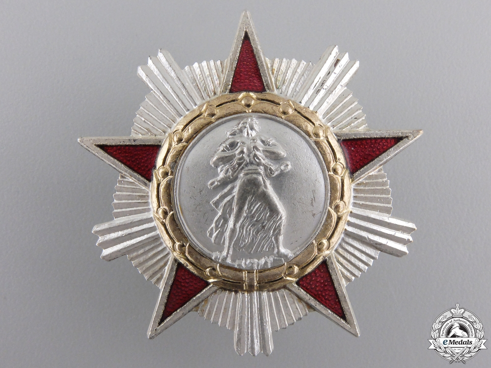 A People's Republic Albania Order of Liberty; 2nd Class