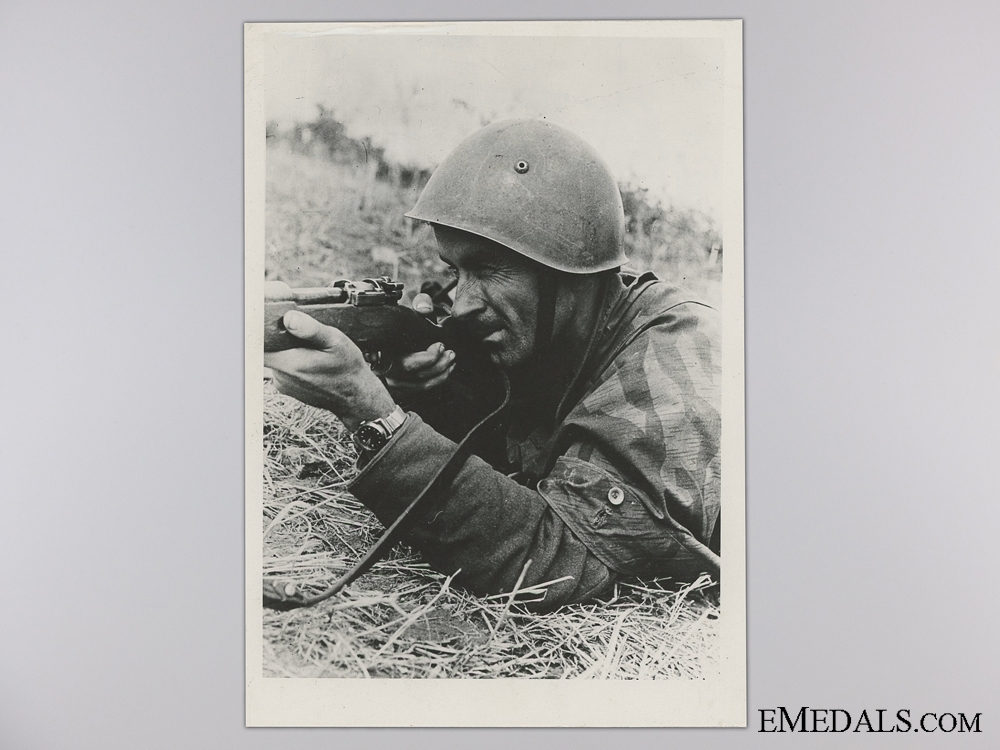 A Period Photograph; German Rifleman in Croatia