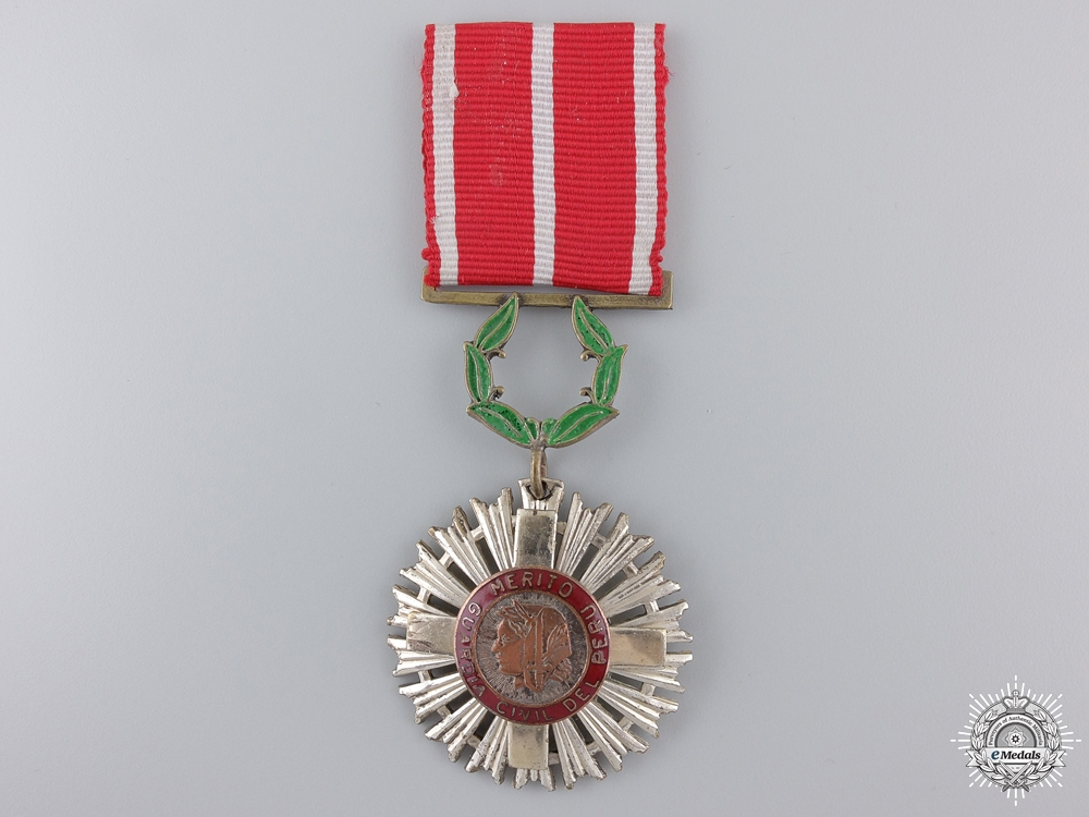 A Peruvian Civil Guard Order of Merit Medal